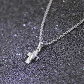 trendor 35787 Silver Cross Pendant Kids Necklace