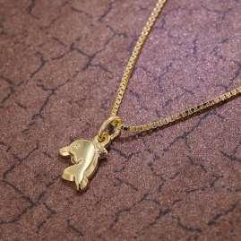 trendor 35916 Delfin-Anhänger für Kinder Gold 333