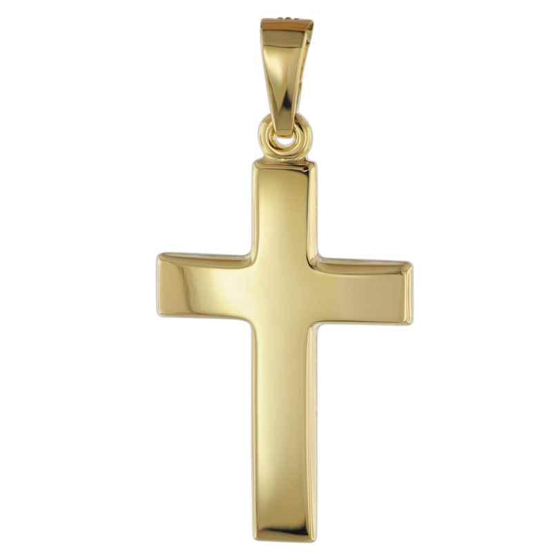 trendor 08610 Kreuz Anhänger für Damen und Herren 585 Gold 21 mm 4260497086109
