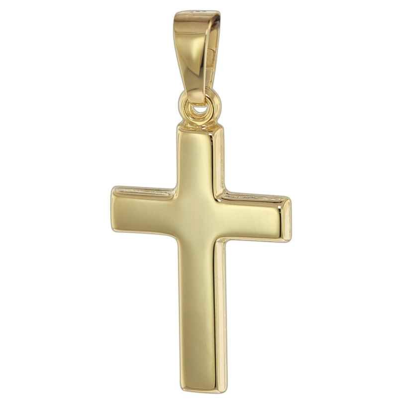 trendor 08616 Kreuz Goldanhänger für Kinder 14 Karat 4260497086161