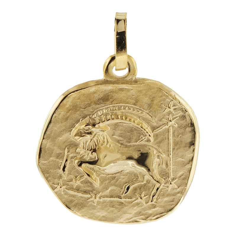 trendor 08725 Sternzeichen-Anhänger Steinbock 333 Gold 16 mm 4260497087250
