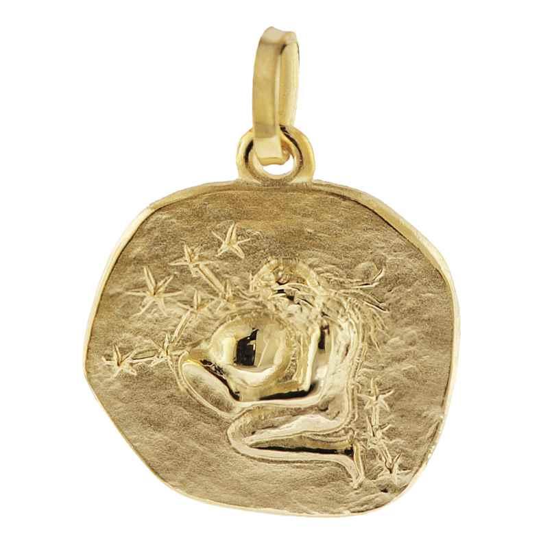 trendor 08726 Sternzeichen-Anhänger Wassermann 333 Gold 16 mm 4260497087267