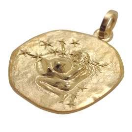 trendor 08726 Sternzeichen-Anhänger Wassermann 333 Gold 16 mm