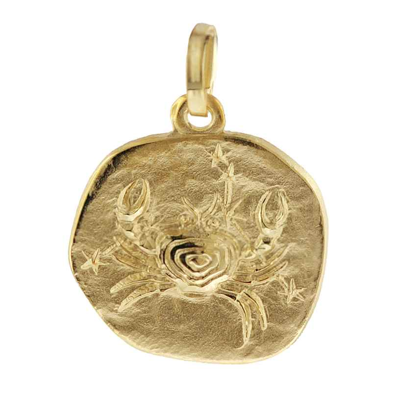 trendor 08731 Sternzeichen-Anhänger Krebs 333 Gold 16 mm 4260497087311