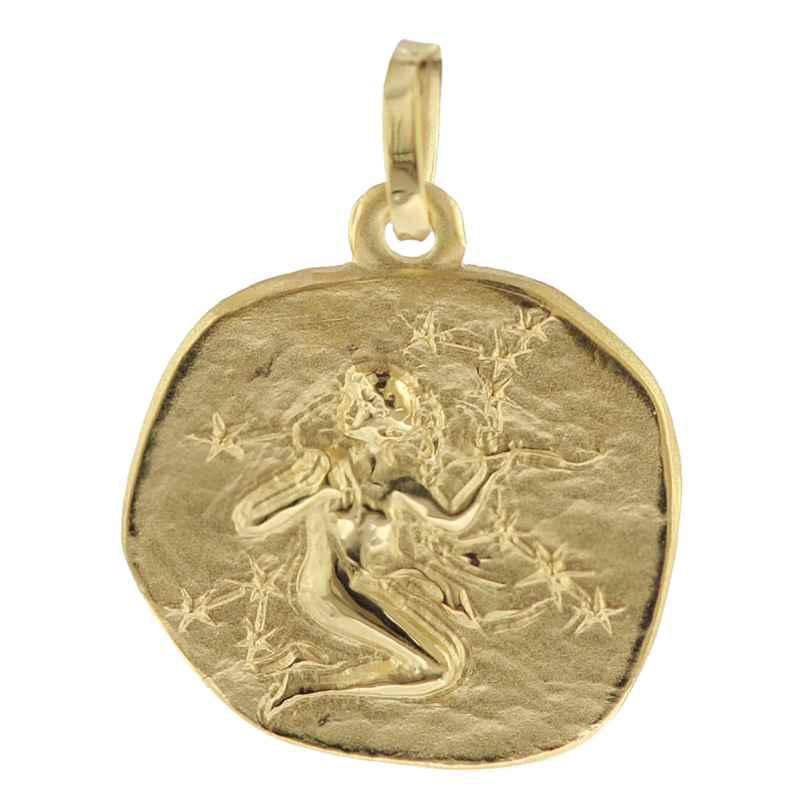 trendor 08733 Sternzeichen-Anhänger Jungfrau 333 Gold 16 mm 4260497087335
