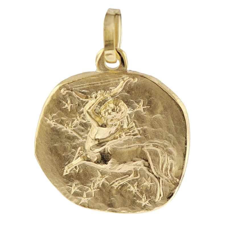 trendor 08736 Sternzeichen-Anhänger Schütze 333 Gold 16 mm 4260497087366