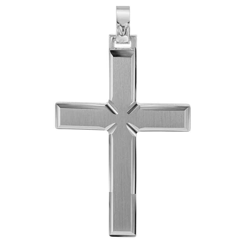trendor 08749 Kreuz-Anhänger für Männer 925 Silber 42 mm 4260497087496