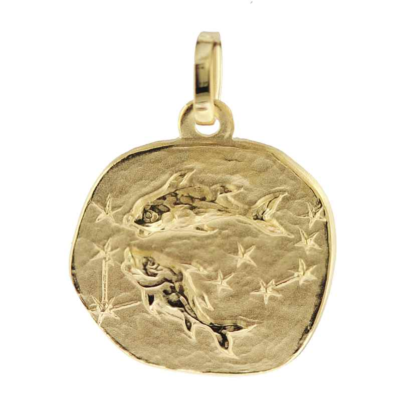 trendor 08960 Sternzeichen-Anhänger Fische 585 Gold 16 mm 4260497089605