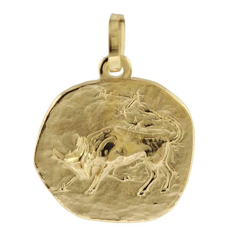 trendor 08962 Sternzeichen-Anhänger Stier 585 Gold 16 mm 4260497089629