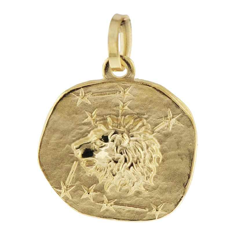 trendor 08965 Sternzeichen-Anhänger Löwe 585 Gold 16 mm 4260497089650