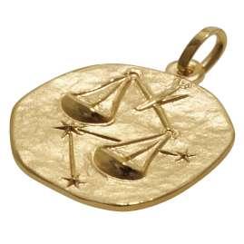 trendor 08967 Sternzeichen-Anhänger Waage 585 Gold 16 mm