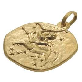 trendor 08969 Zodiac Pendant Sagittarius Gold 585/14 ct 16 mm
