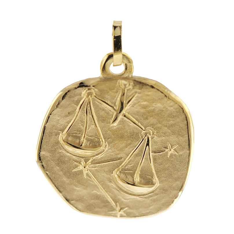 trendor 08991 Sternzeichen-Anhänger Waage 333 Gold 20 mm 4260497089919