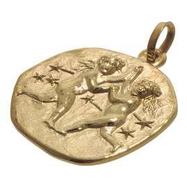 trendor 08987 Sternzeichen-Anhänger Zwilling 333 Gold 20 mm
