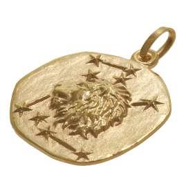 trendor 08989 Sternzeichen-Anhänger Löwe 333 Gold 20 mm