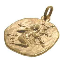 trendor 08990 Sternzeichen-Anhänger Jungfrau 333 Gold 20 mm