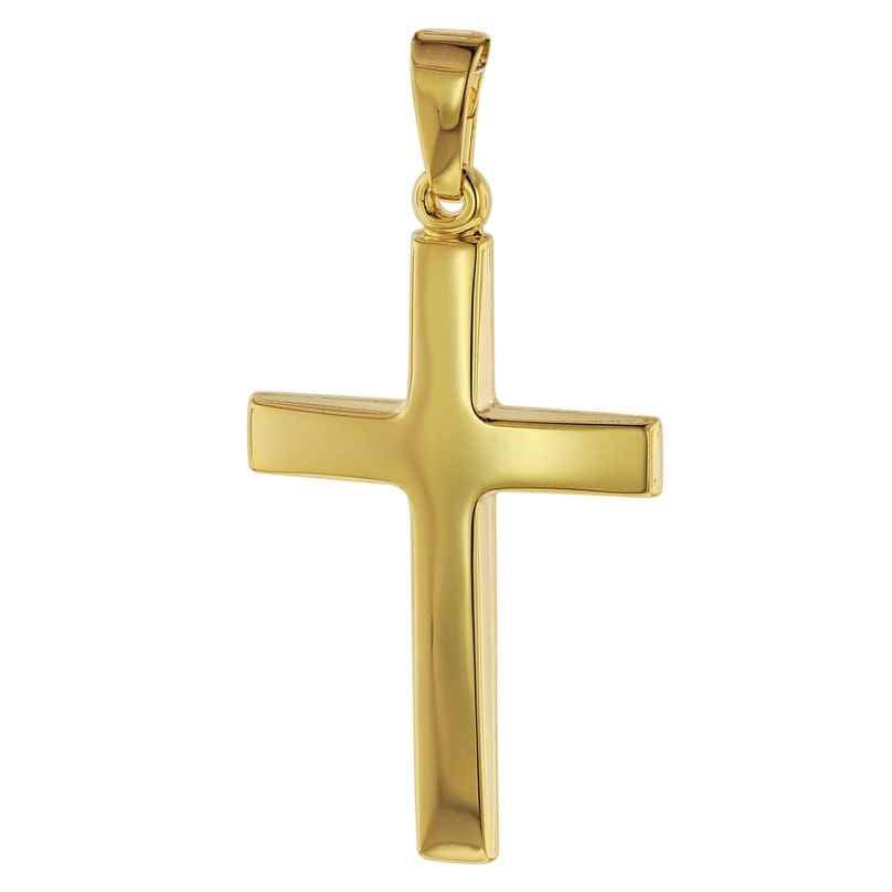 trendor 75095 Kreuz-Anhänger Gold 750 (18 Karat) 32 x 17 mm 4260641750955