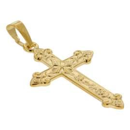 trendor 75104 Cross Pendant Gold 750 (18 carat) 32 x 16 mm