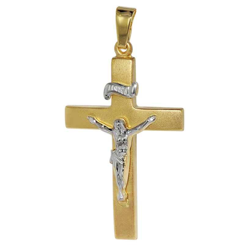 trendor 75118 Kruzifix-Anhänger Gold 750 (18 Karat) 35 x 19 mm 4260641751181