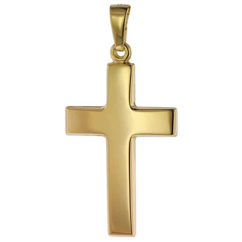 trendor 75268 Cross Pendant Gold 585 (14 Carat) 24 mm 4260641752683