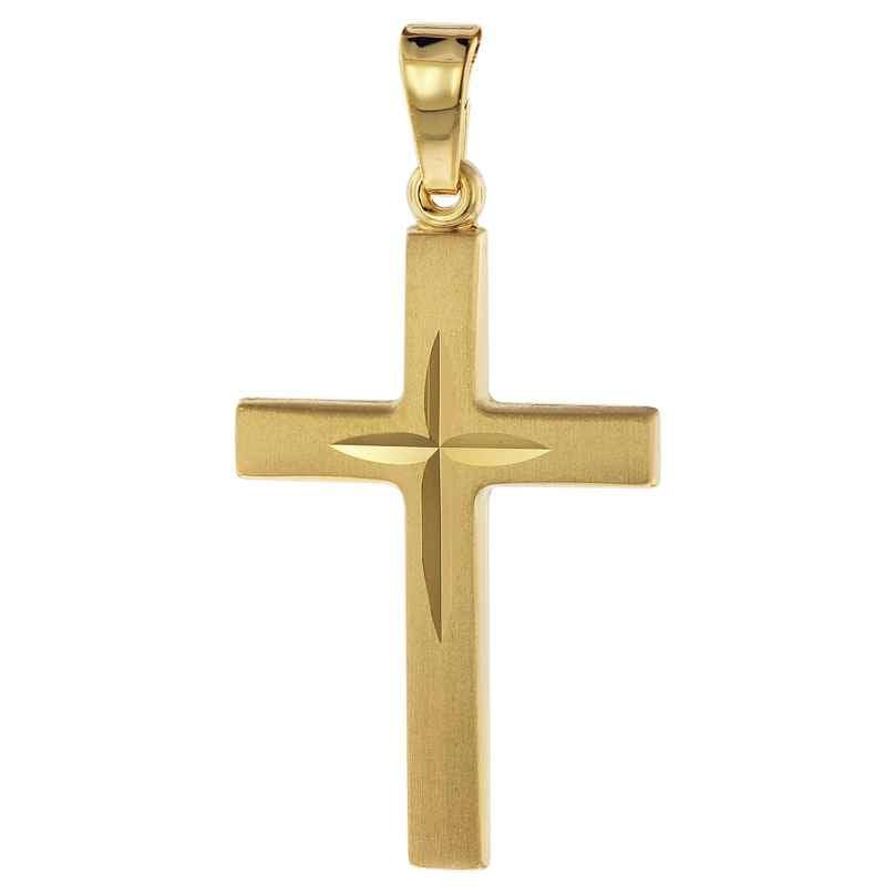 trendor 75316 Kreuz-Anhänger Gold 750 (18 Karat) 24 mm 4260641753161