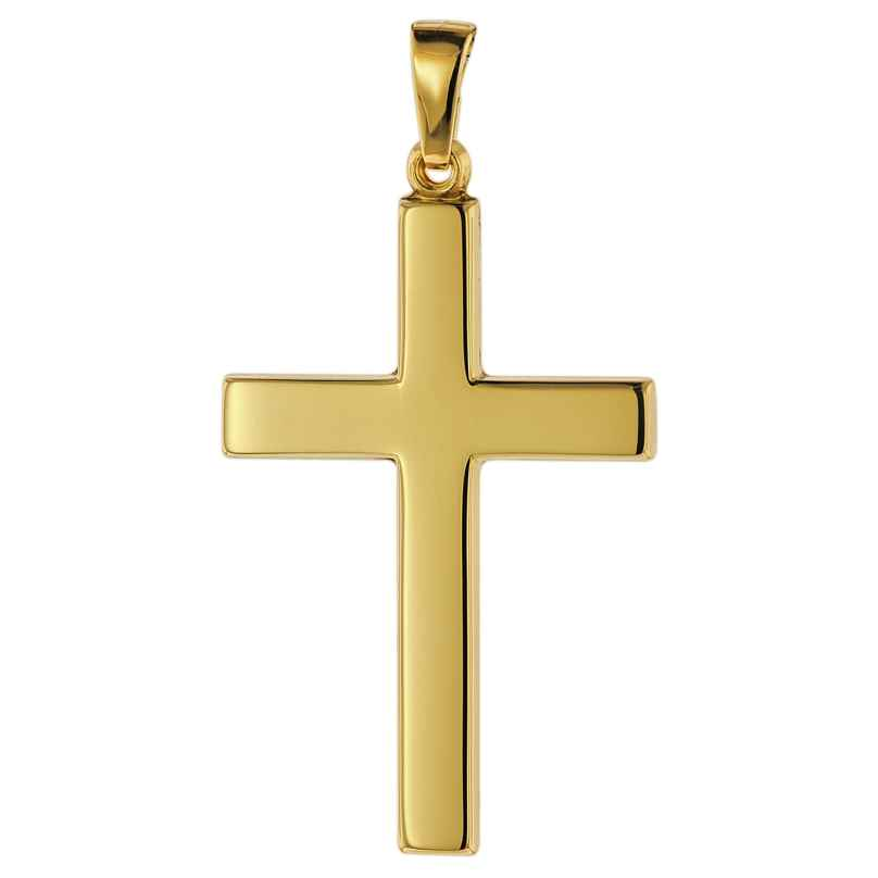trendor 75367 Cross Pendant 28 mm Gold 585 / 14 Carat 4260641753673