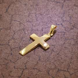 trendor 75416 Cross Pendant 21 mm Gold 750 / 18K