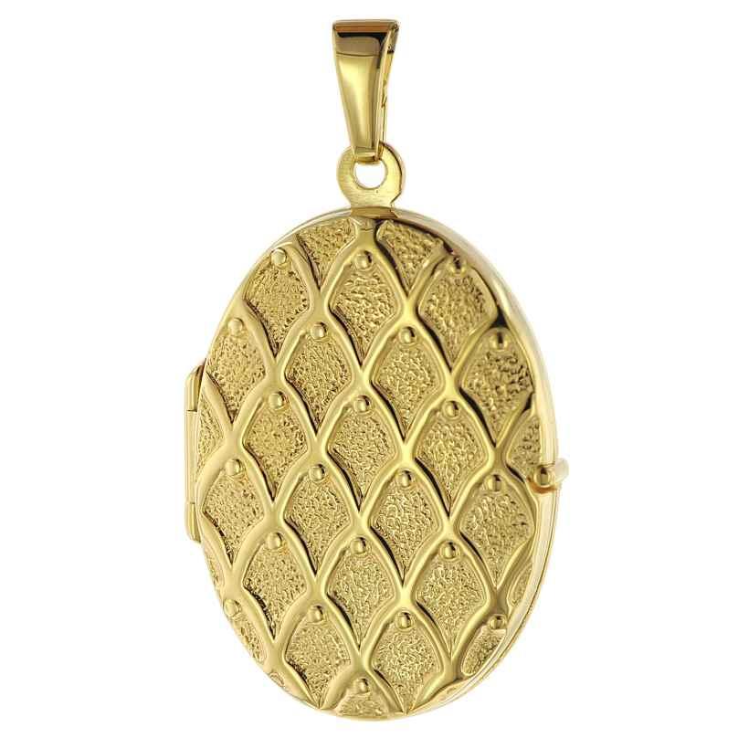trendor 75535 Medaillon mit Muster Gold 333 / 8K 4260641755356