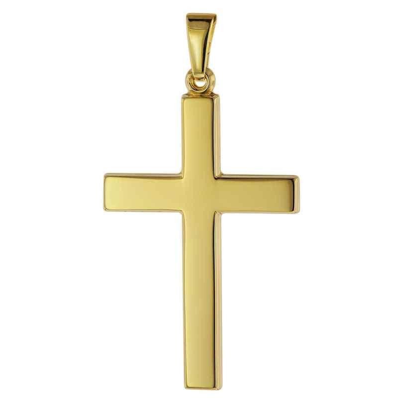 trendor 75541 Kreuz-Anhänger für Herren 28 mm Gold 333 / 8K 4260641755417