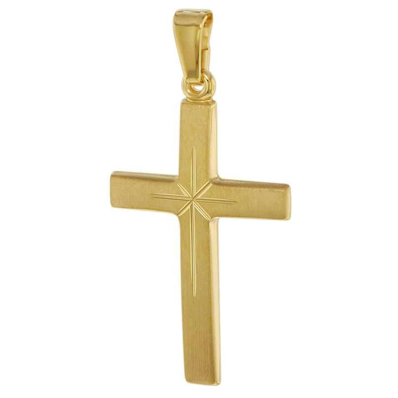 trendor 75550 Kreuz-Anhänger 24 mm 750 Gold/18 Karat 4260641755509