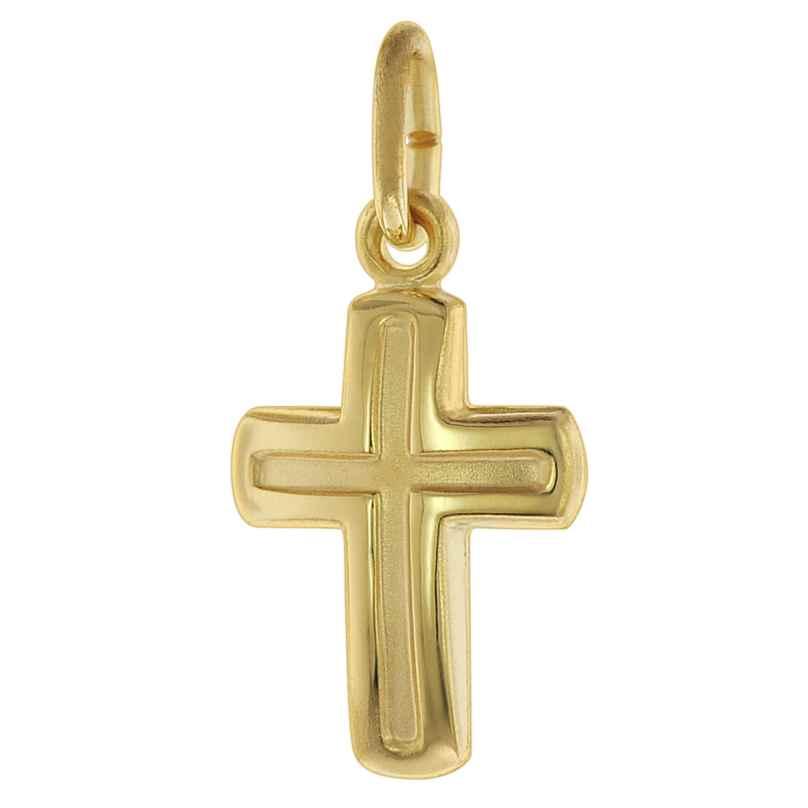 trendor 75621 Kreuz-Anhänger für Kinder Gold 333 / 8 Karat 4260641756216