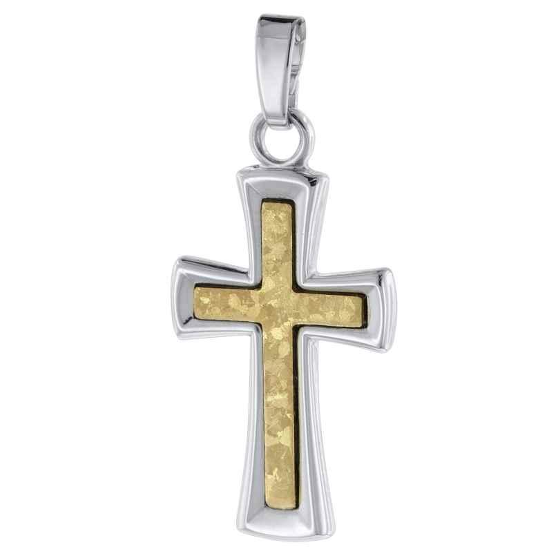 trendor 75783 Kreuz-Anhänger 585 Gold 14 Karat Bicolor 4260641757831