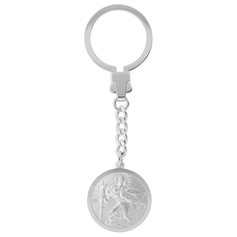trendor 39035 Keychain Christophorus Silver 925 4260684390354