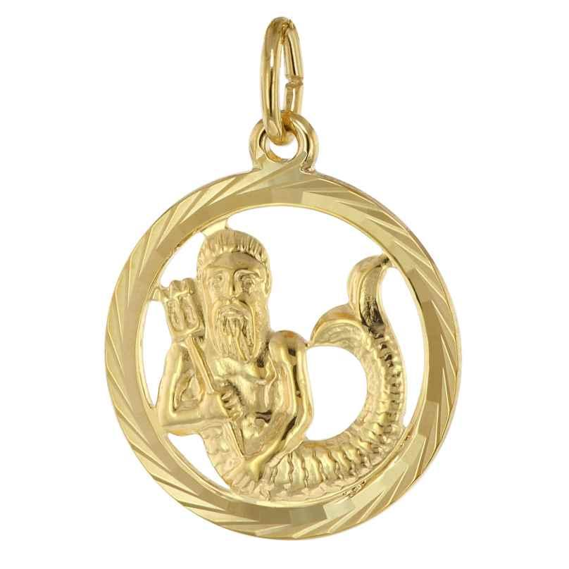 trendor 39000-02 Sternzeichen Wassermann 333 Gold Anhänger Ø 16 mm 4260684390101