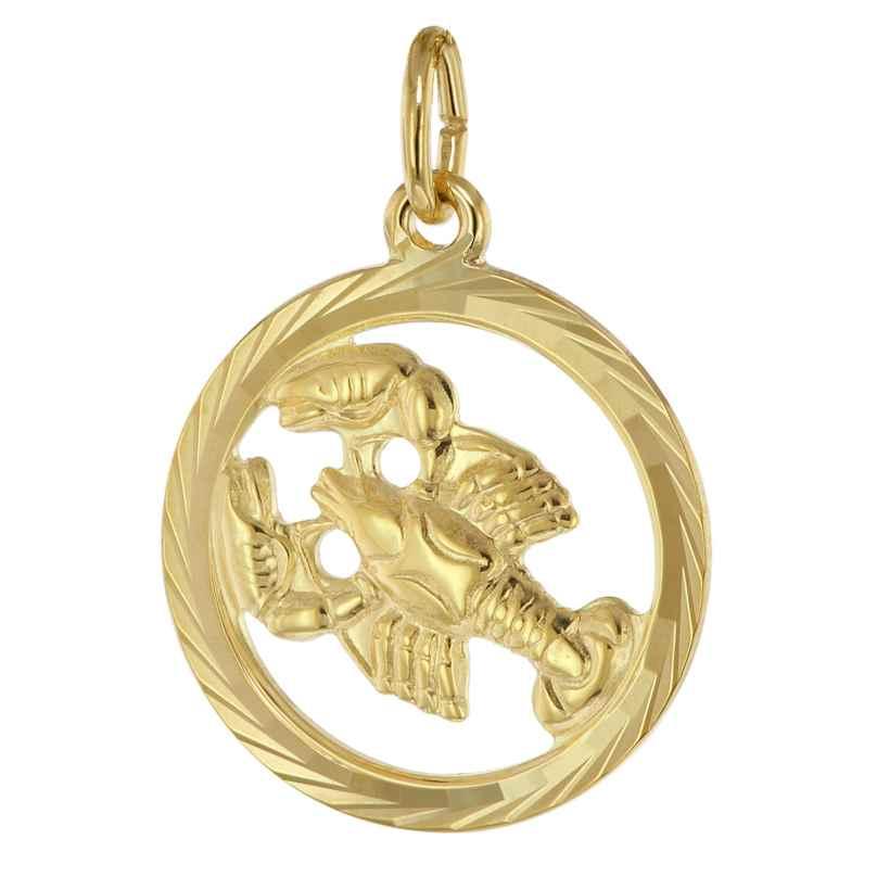 trendor 39000-07 Sternzeichen Krebs 333 Gold Anhänger Ø 16 mm 4260684390033