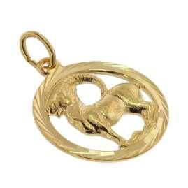 trendor 39000-01 Zodiac Sign Capricorn 333 Gold Pendant Ø 16 mm