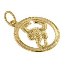 trendor 39000-11 Sternzeichen Skorpion 333 Gold Anhänger Ø 16 mm