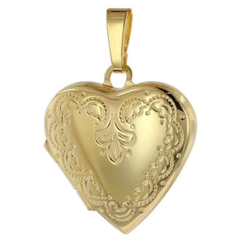 trendor 39572 Medaillon Anhänger Herz Gold 333 / 8 Karat 4260684395724