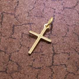 trendor 51094 Kreuz-Anhänger für Kinder 15 mm Gold 333 / 8K