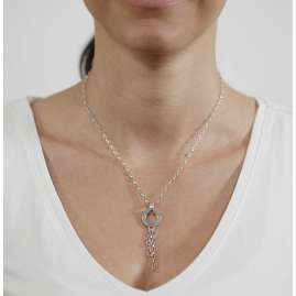 trendor 63416 Silver Charms Necklace