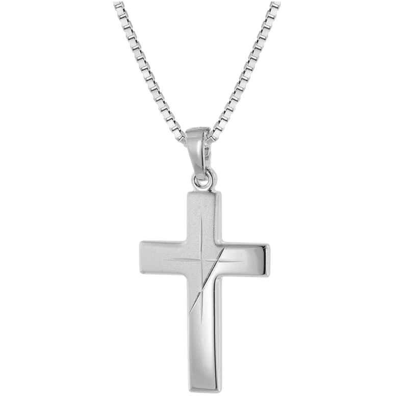 trendor 63607 Silver Men's Necklace with Cross Pendant 4260227763607