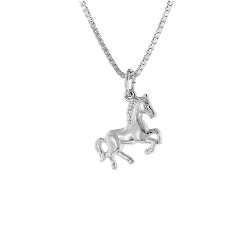trendor 63690 Kinder-Halskette mit Pferde-Anhänger Silber 4260227763690