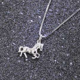 trendor 63690 Chidren Necklace with Horse Pendant Silver