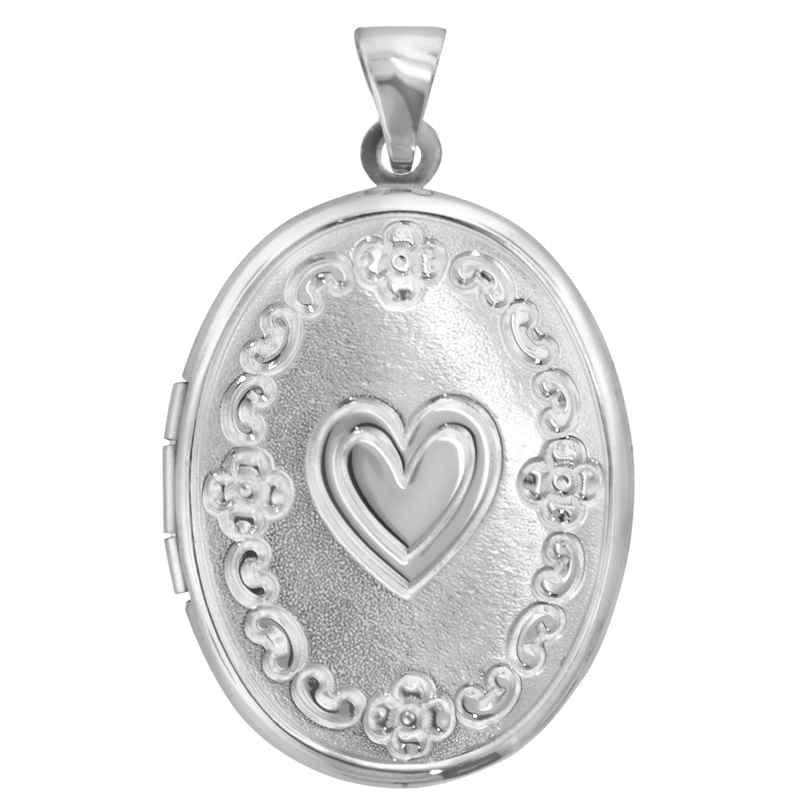trendor 63805 Silver Locket with Heart 4260227763805
