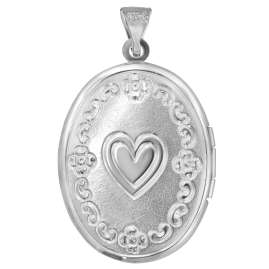 trendor 63805 Silver Locket with Heart