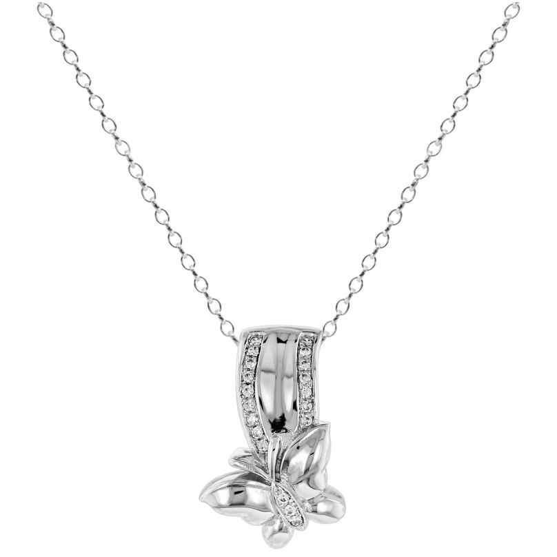 trendor 65106 Silber Collier Schmetterling 4260227765106