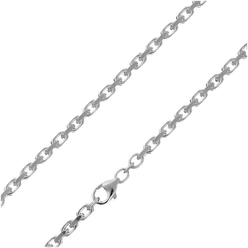 trendor 85741 Silberkette für Herren 925 Sterlingsilber Ankerkette 3,0 mm