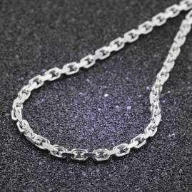 trendor 85772 Silber-Halskette für Herren 3,8 mm breit