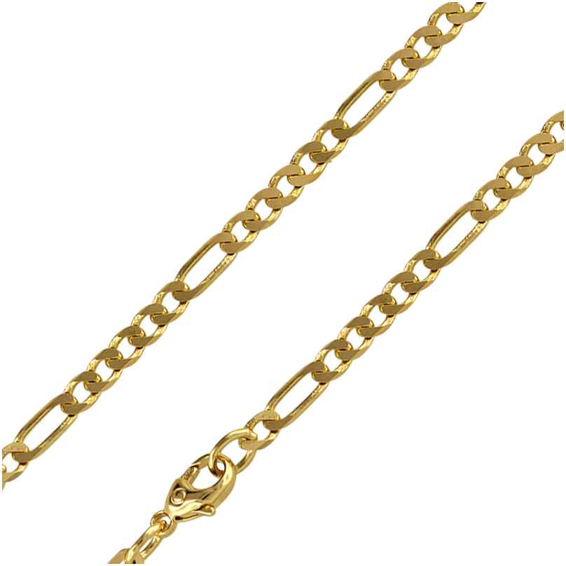 trendor 88452 Figaro Kette für Herren Gold 585/14K Breite 3,8 mm Länge 50 cm 4260266588452