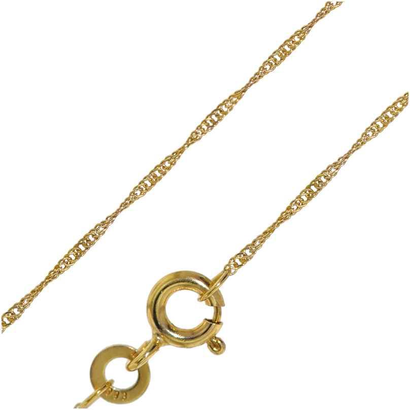 trendor 72450 Goldkette für Damen 333 Gold (8 Karat) Singapur-Muster 1,0 mm